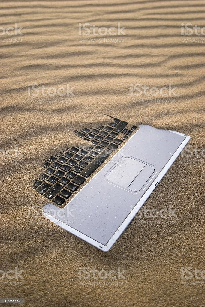 Sandy Notebook royalty-free stock photo