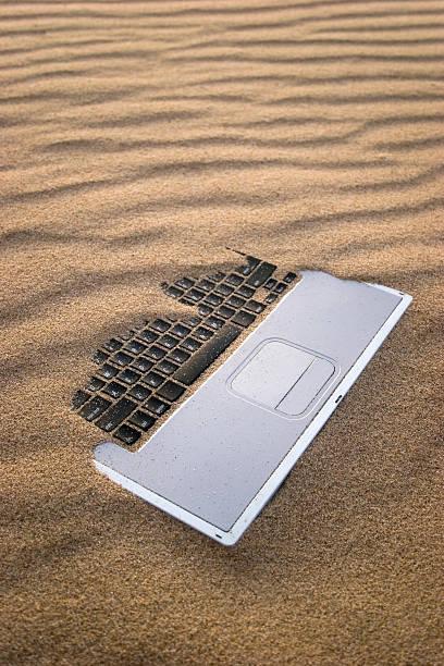 Sandy Notebook stock photo