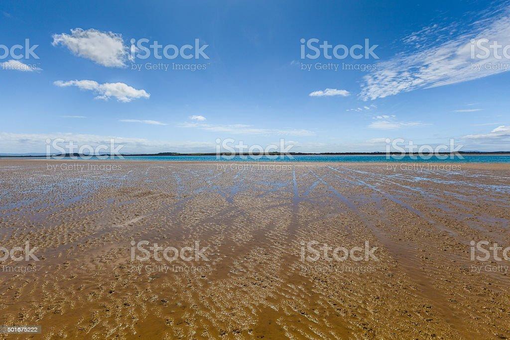 Sandy Point beach at high noon, Australia stock photo