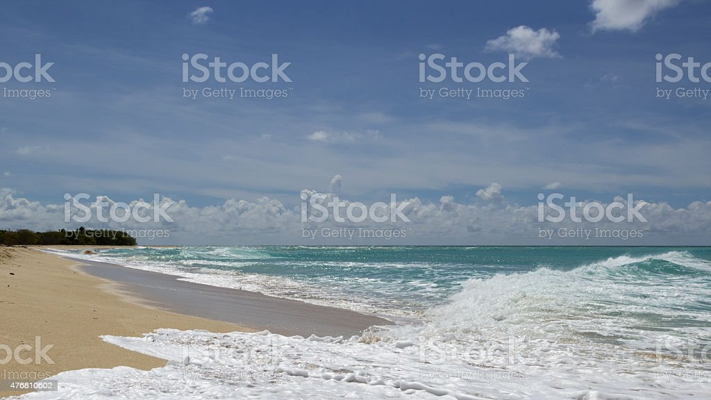 Sandy Point Beach - Carribean Island - St. Croix stock photo