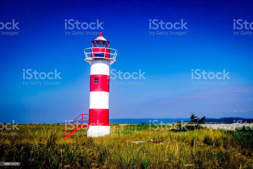 Sandy Point Lighthouse stock photo