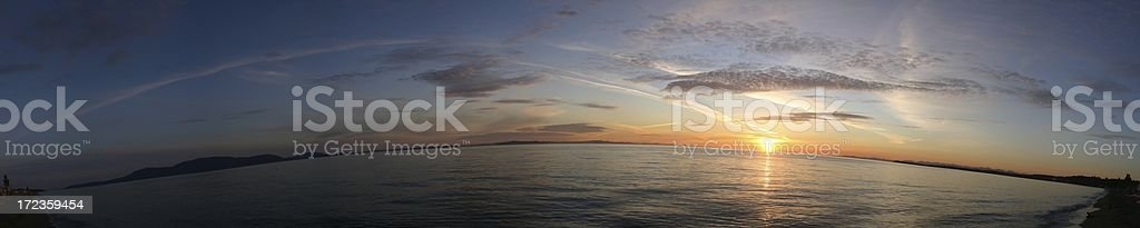 Sandy Point Sunset Pano - Four royalty-free stock photo