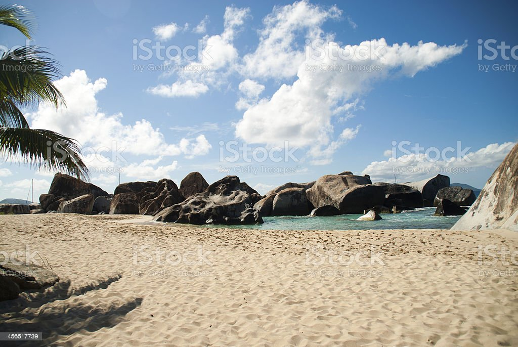 BVI Sandy Rocks stock photo