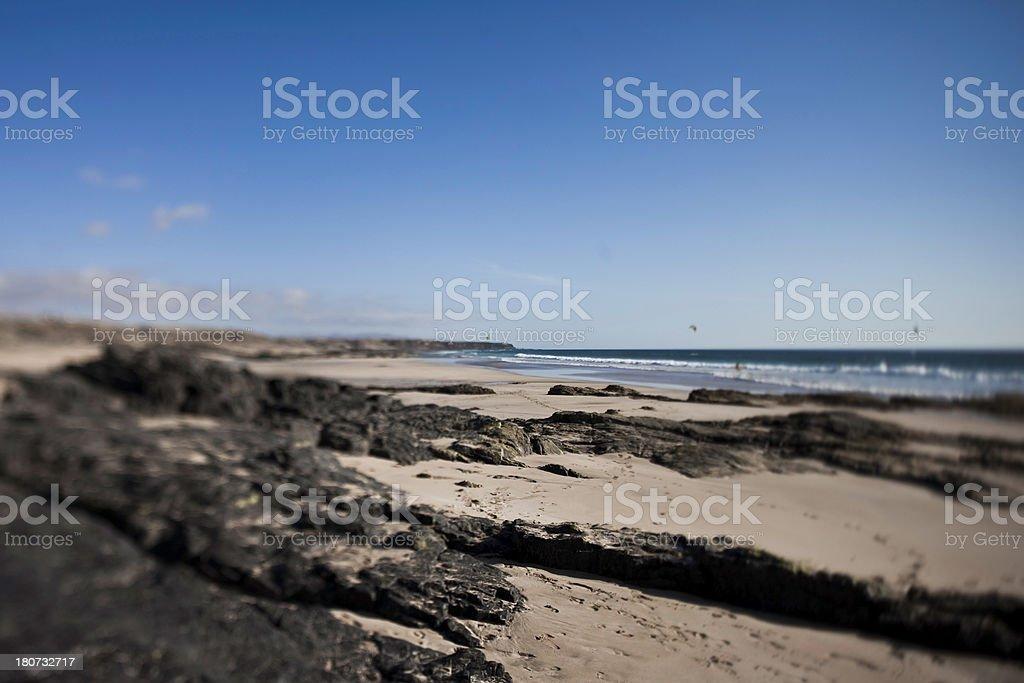 Sandy Rocky Beach royalty-free stock photo
