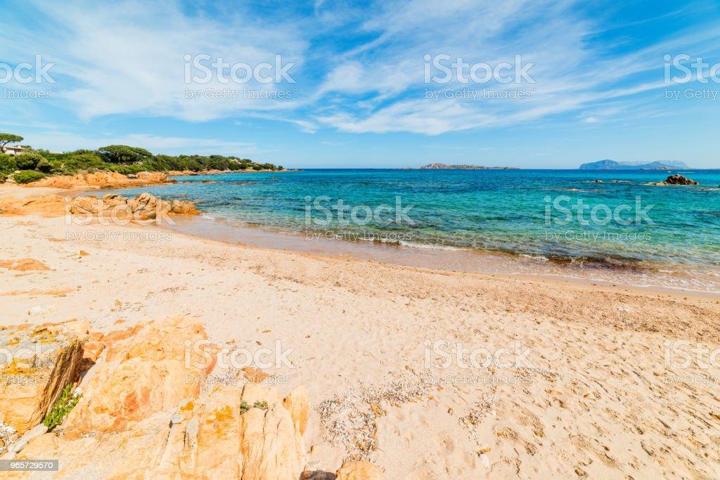 Sandy shore in Romazzino beach in Costa Smeralda - Royalty-free Beach Stock Photo