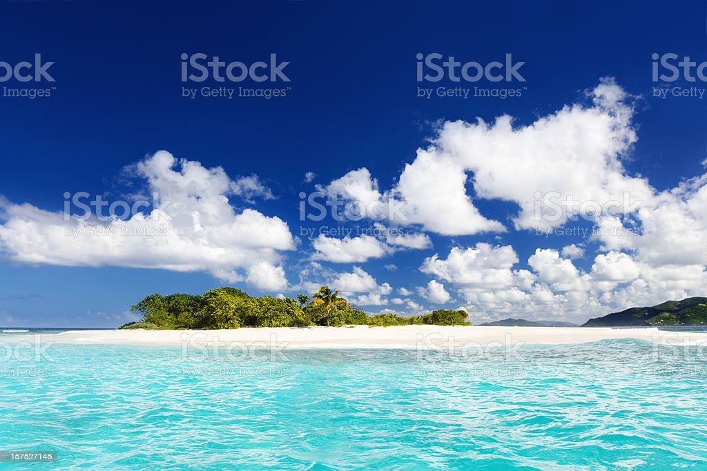 Sandy Spit, British Virgin Islands - paradise Caribbean island royalty-free stock photo