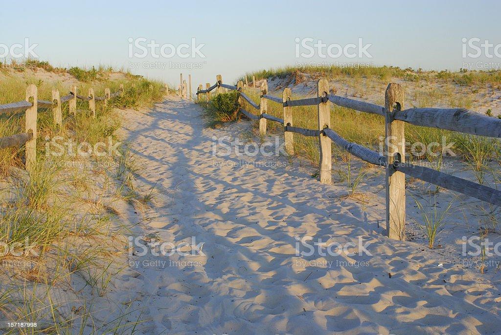 Sandy Walkway to Beach stock photo