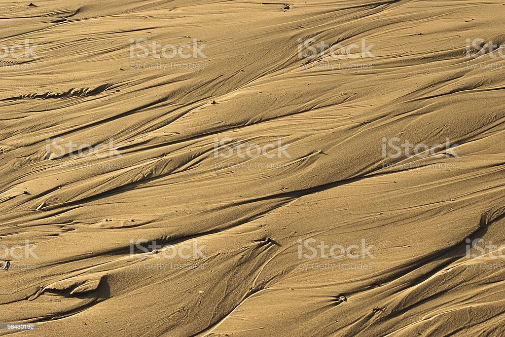 Sandy waves royalty-free stock photo