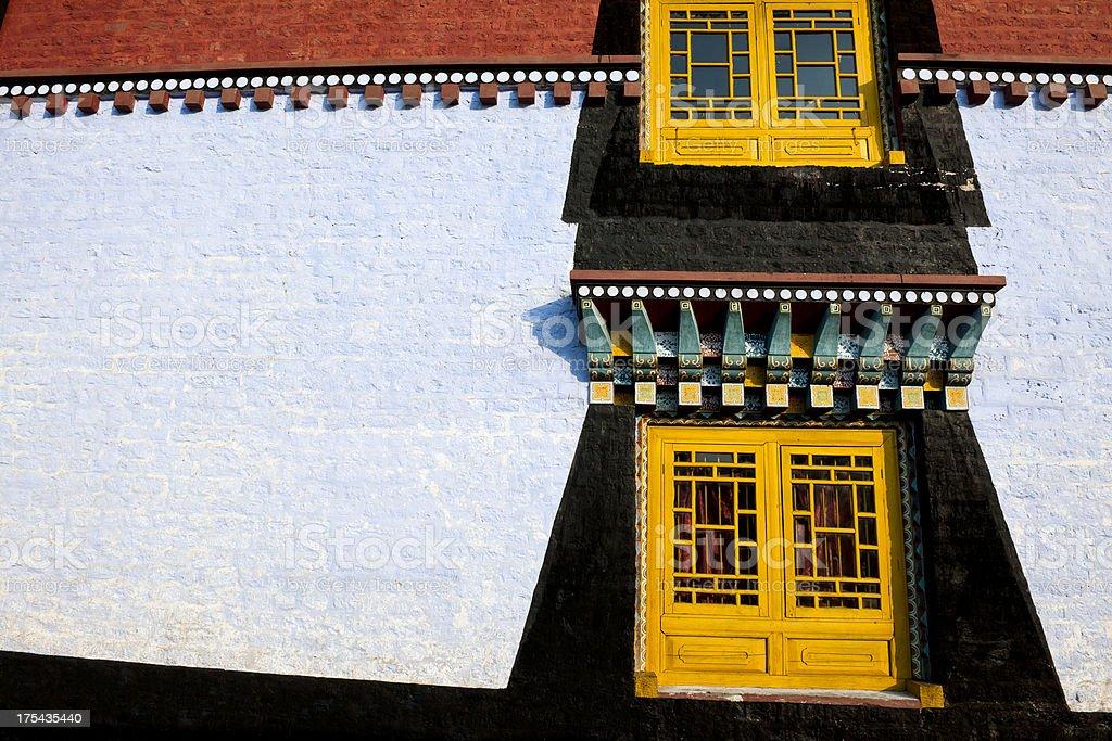 Sangachoeling Monastery Windows Sikkim India royalty-free stock photo