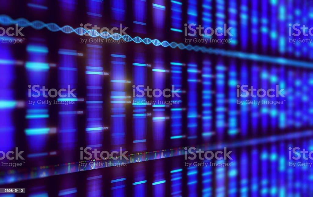 Sanger séquençage arrière-plan - Photo