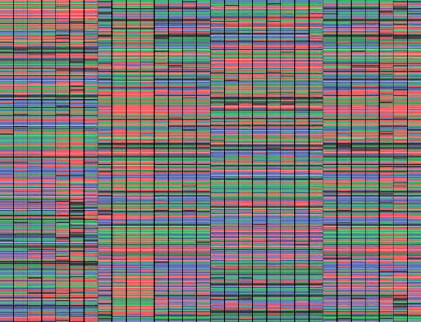 Sanger Sequencing Background Illustration of a method of colored DNA sequencing. nucleotide stock pictures, royalty-free photos & images
