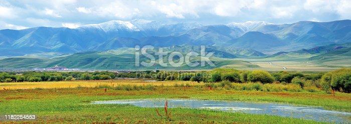 Sangke Grassland in Xiahe County, Tibetan Autonomous Prefecture of Ganan, Gansu Province, China