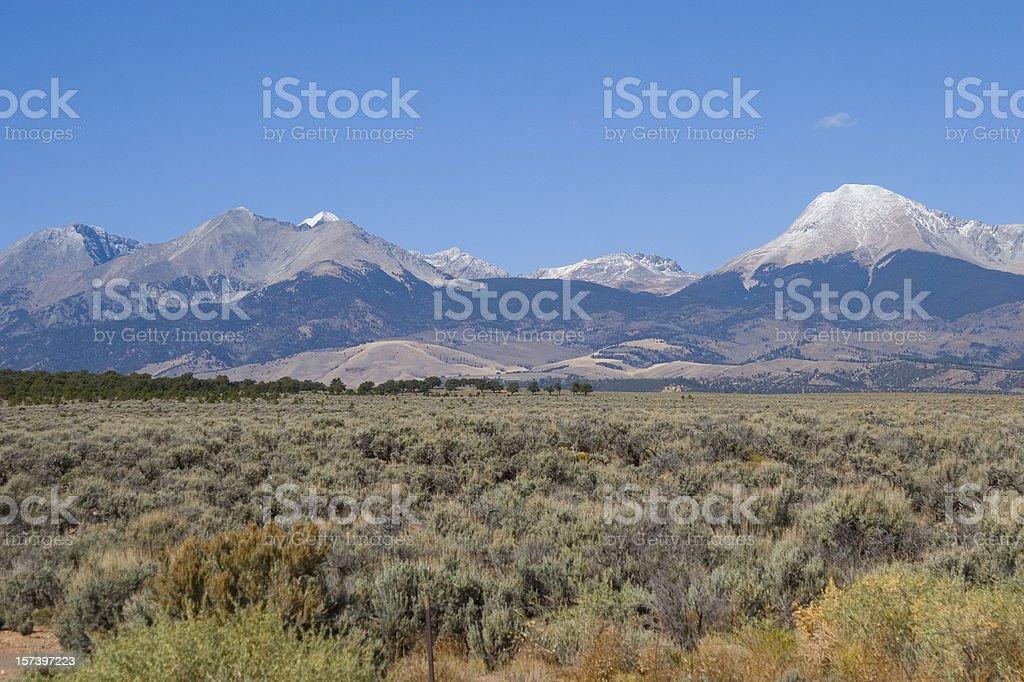 Sangre de Cristo Mountains stock photo