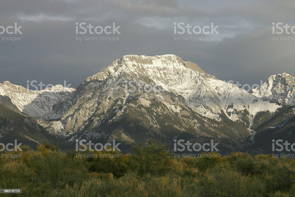 Sangre de Cristo Mountains royalty-free stock photo