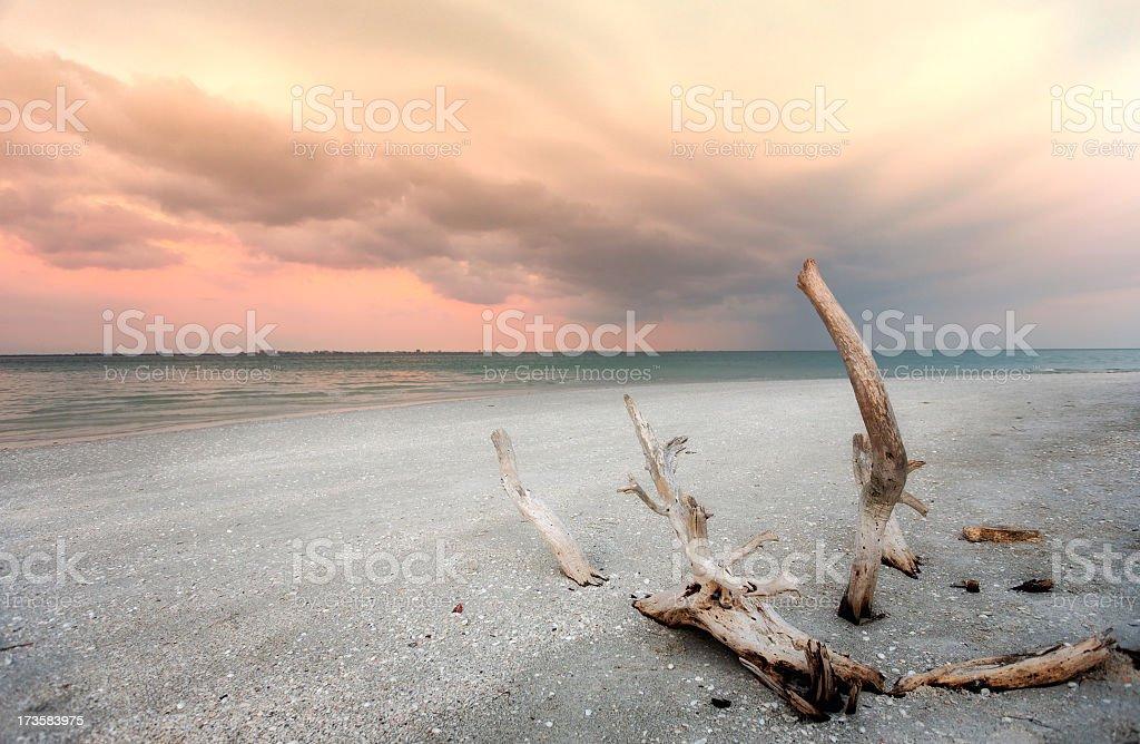 Sanibal Sunset royalty-free stock photo