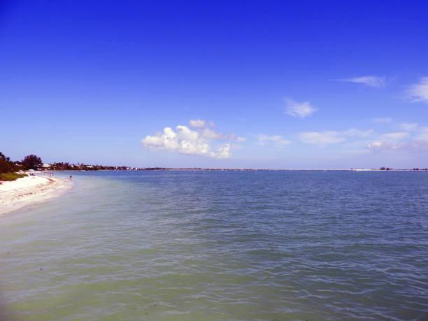 Sanibel Beach in Florida stock photo