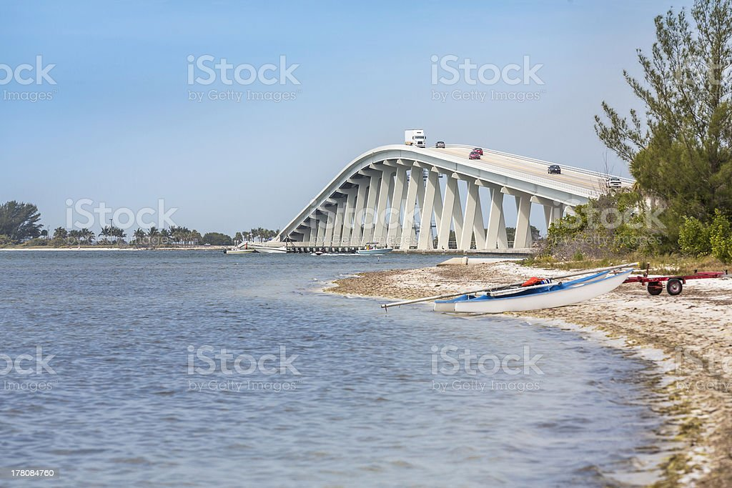 Sanibel Causeway And Bridge in Florida royalty-free stock photo