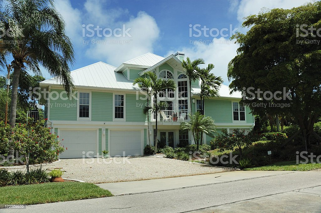 Sanibel Island Vacation Home stock photo