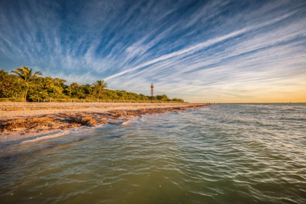 Sanibel Lighthouse - Point Ybel Light stock photo