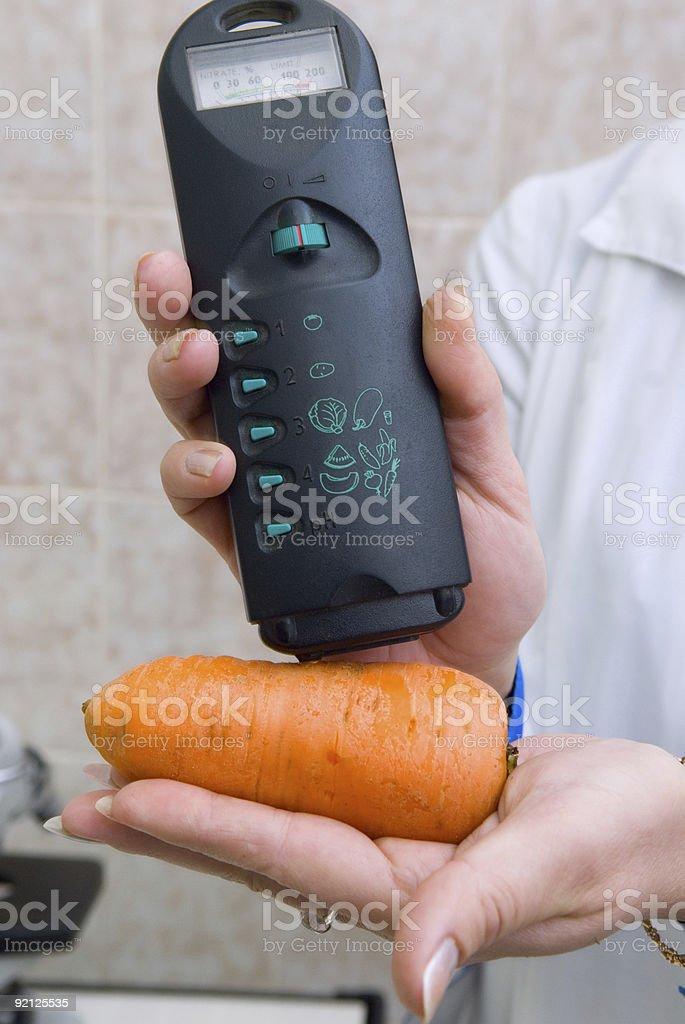 Sanitary control of foodstuffs stock photo