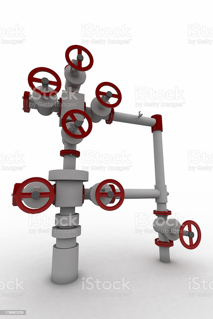 3D sanitary engineering royalty-free stock photo