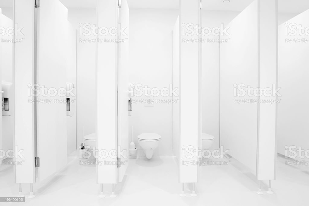 sanitary public restroom bathroom WC stock photo