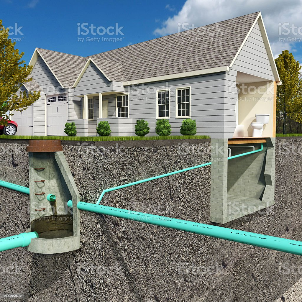 Sanitary System Diagram stock photo