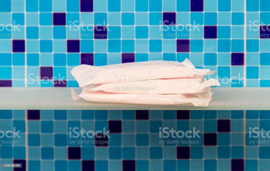 Sanitary towels - beauty treatment stock photo