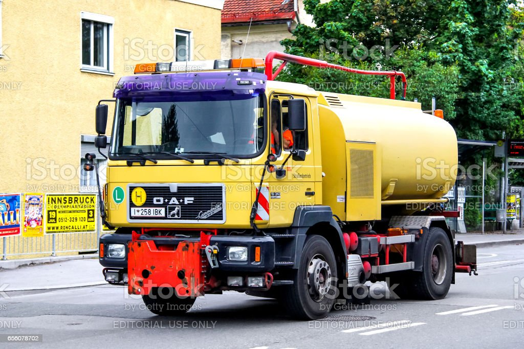 Sanitary truck OeAF stock photo