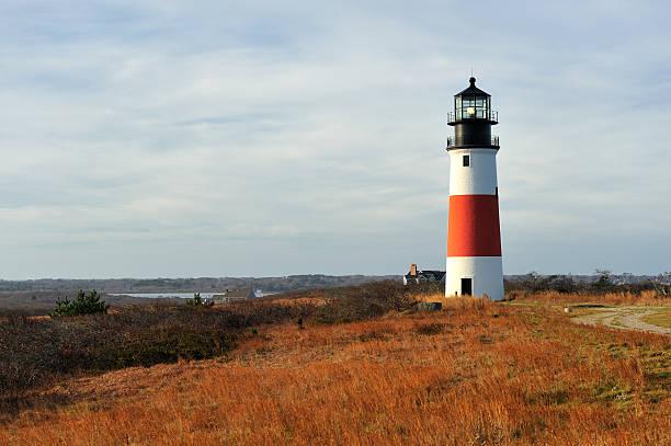 Sankaty Head Light Lighthouse, Nantucket, Massachusetts, USA stock photo
