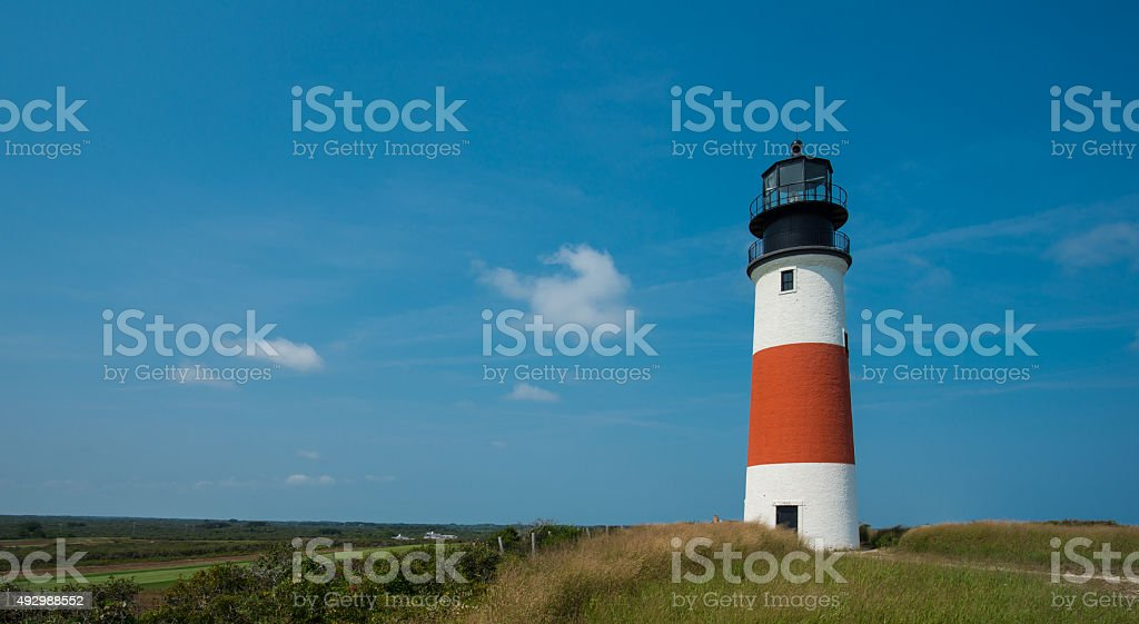 Sankaty Lighthouse stock photo