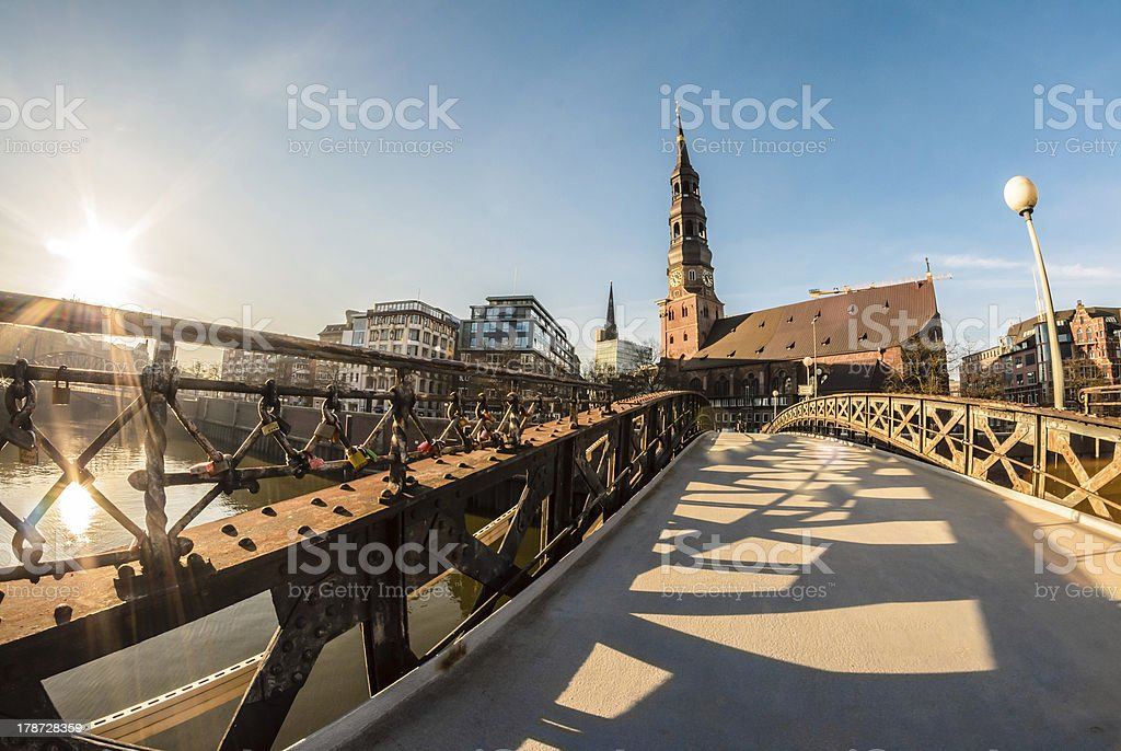 Sankt Catharina, Hamburg royalty-free stock photo