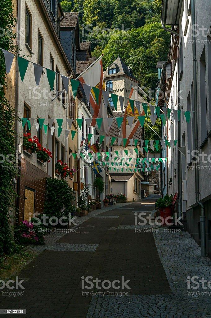 Sankt Goar Alleyway stock photo