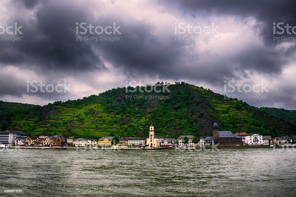 Sankt Goar, Rhine Valley, Germany stock photo