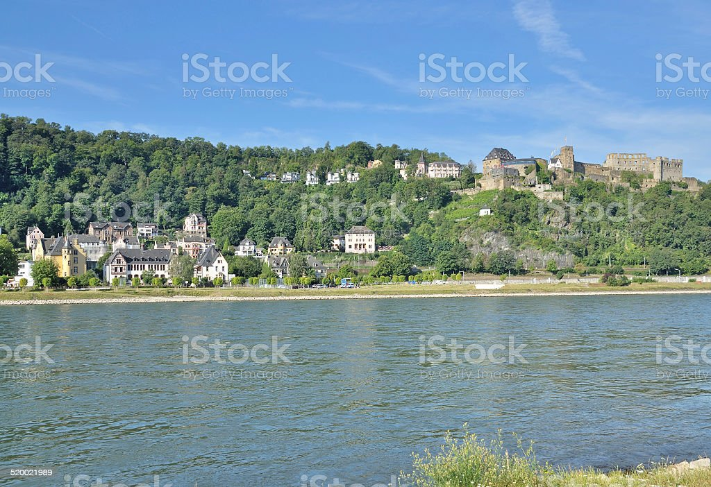 Sankt Goar,Rhine River,Germany stock photo