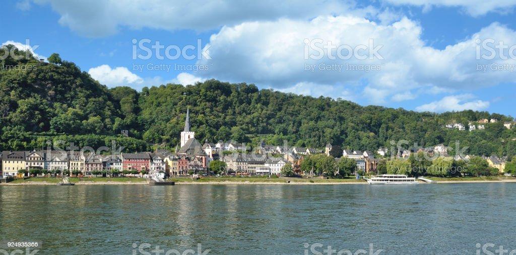 Sankt Goar,Rhine river,Rhineland-Palatinate,Germany stock photo
