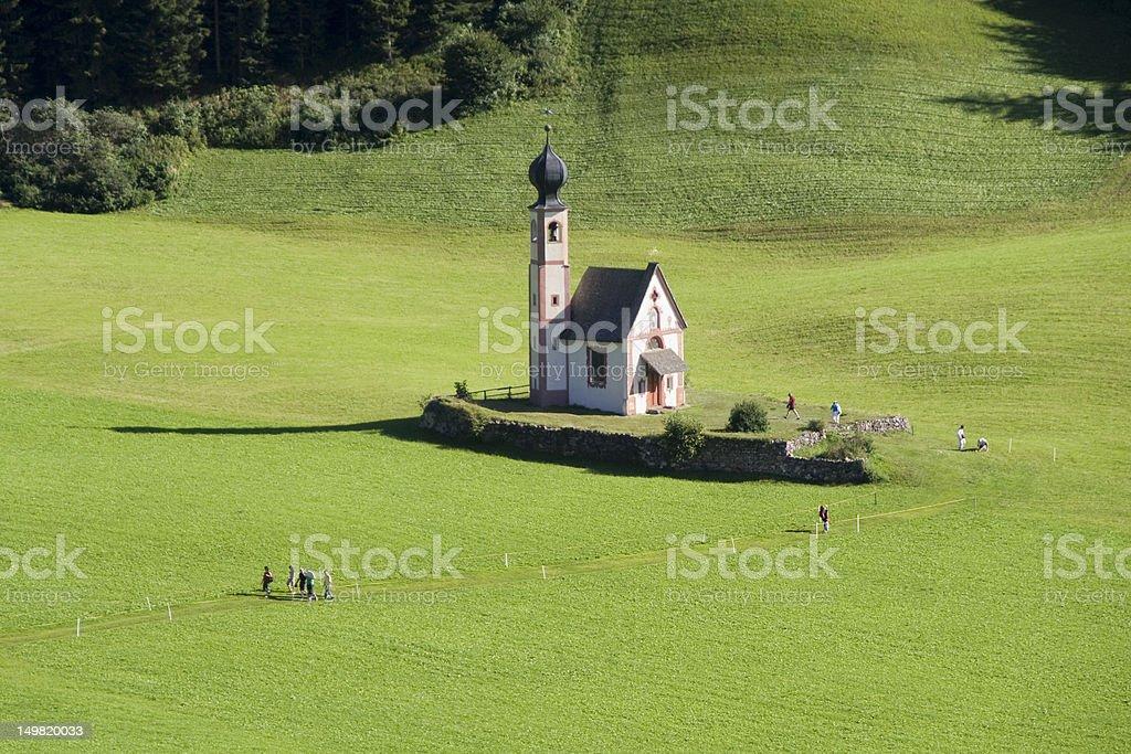 Sankt Johann church stock photo