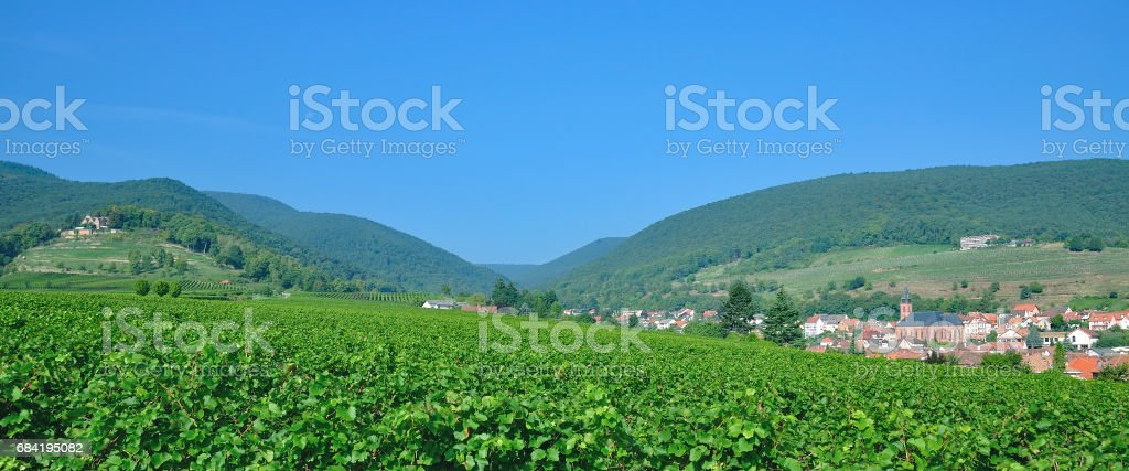 Sankt Martin,german Wine Road,Palatinate,Germany royalty-free stock photo
