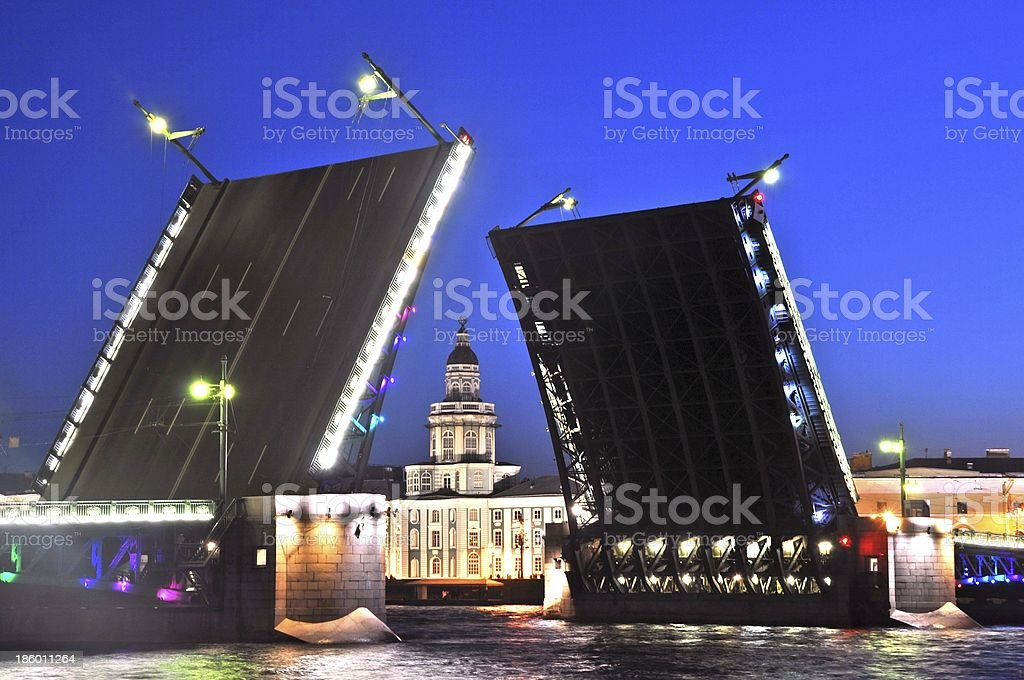 Sankt Petersburg White Nights sightseeing stock photo