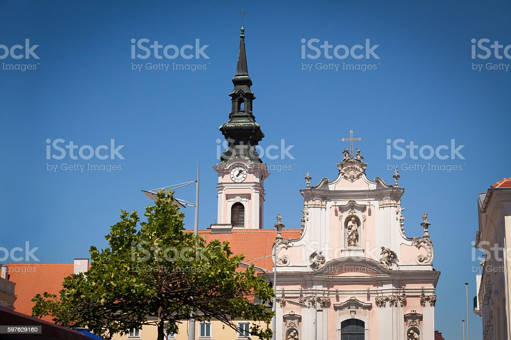 Sankt Poelten Architecture stock photo