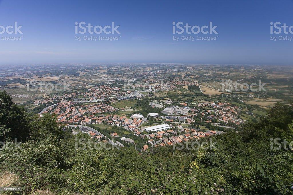 San-Marino. Wide angle view. royalty-free stock photo