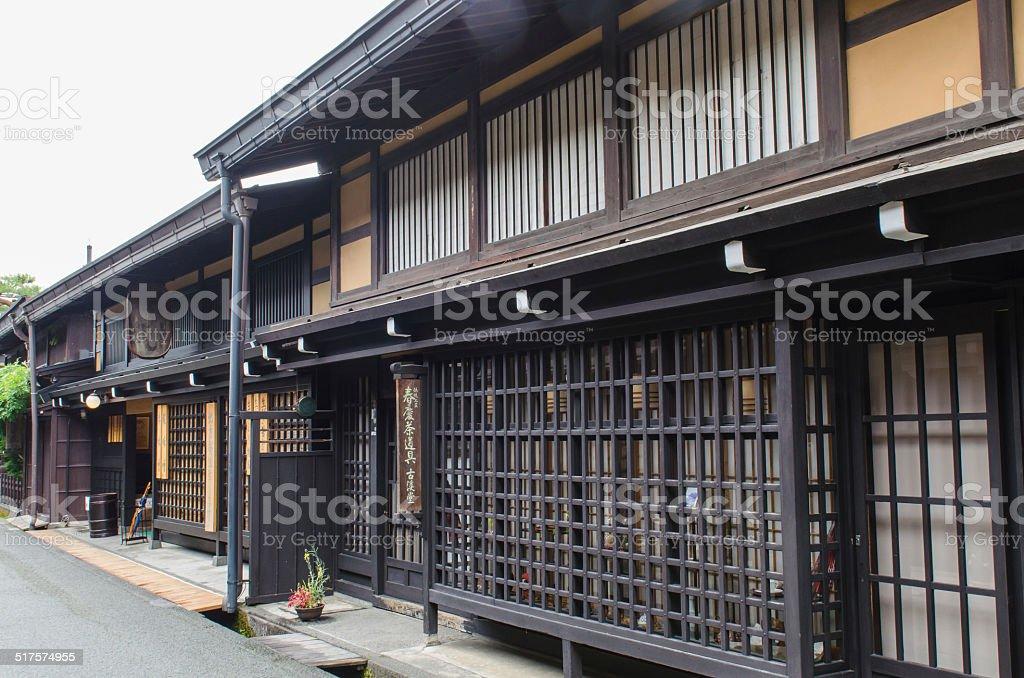 Sannomachi preserved area in Takayama stock photo