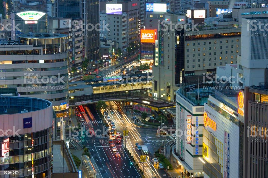 Sannomiya Street stock photo