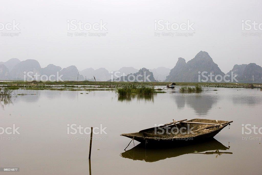 Sanpan on Canal royalty-free stock photo