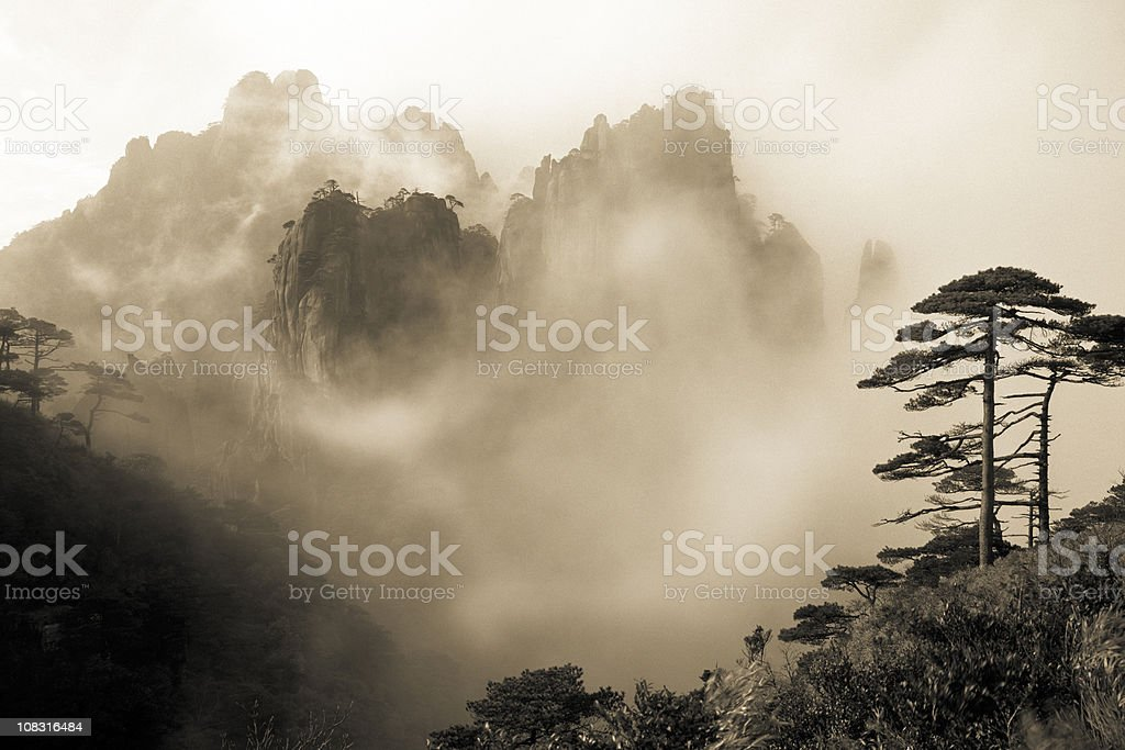 Sanqingshan National Park stock photo