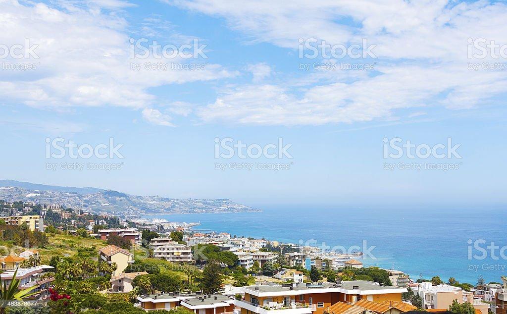 Sanremo, famous town on the Liguria, Itally stock photo