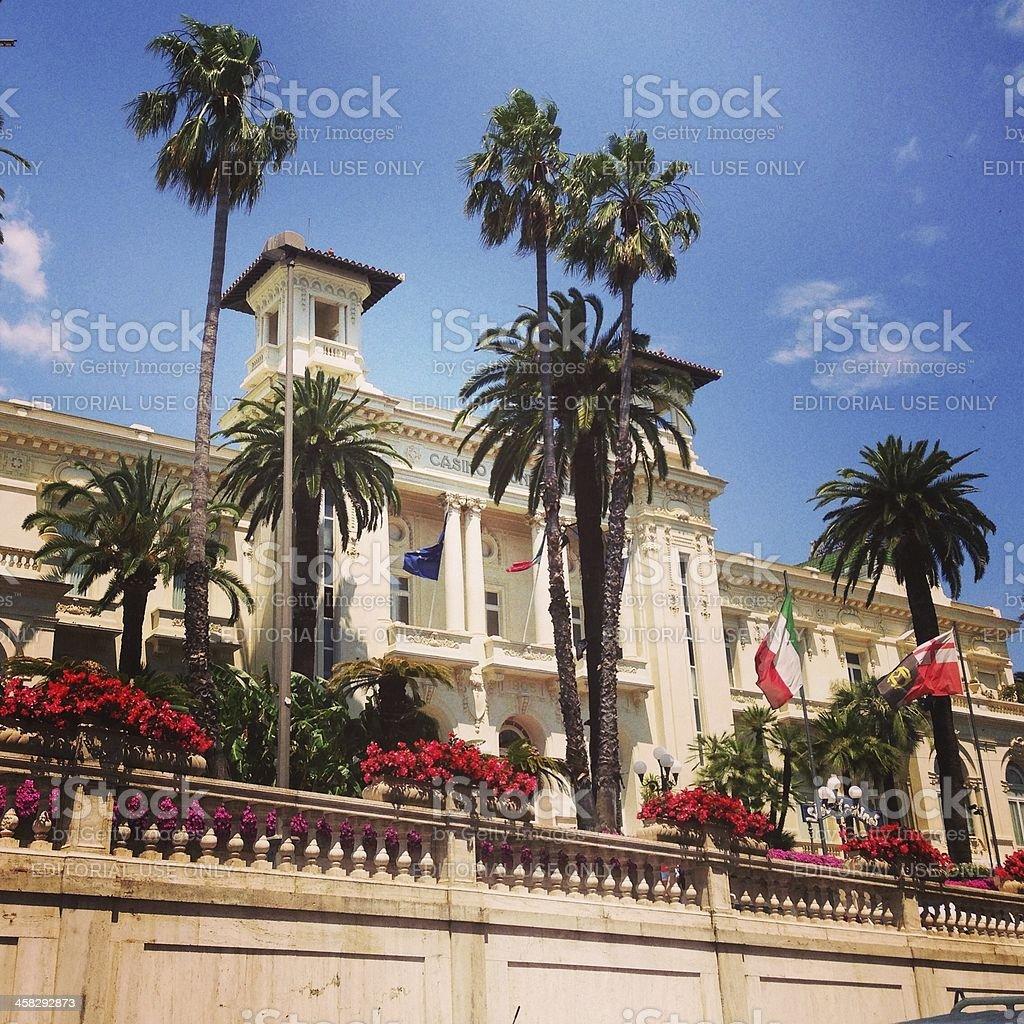 Sanremo Municipal Casino stock photo