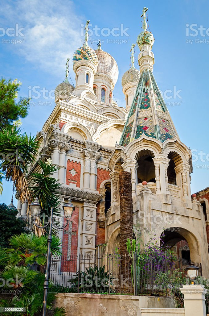 Sanremo (Italy) Russian Church stock photo