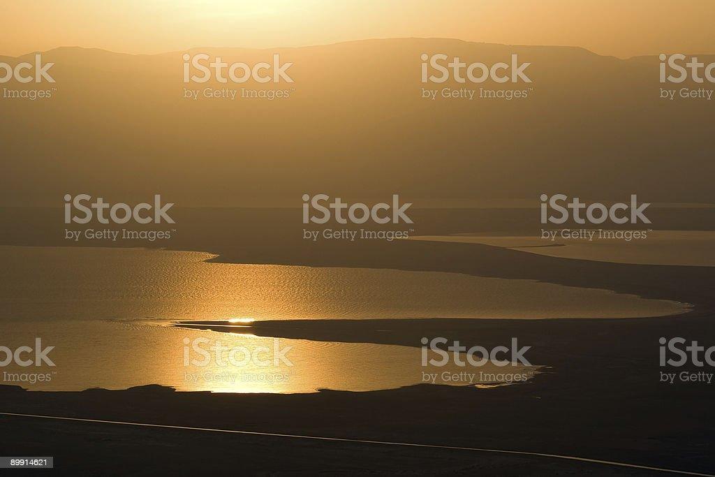 Sanrise at Dead Sea royalty-free stock photo