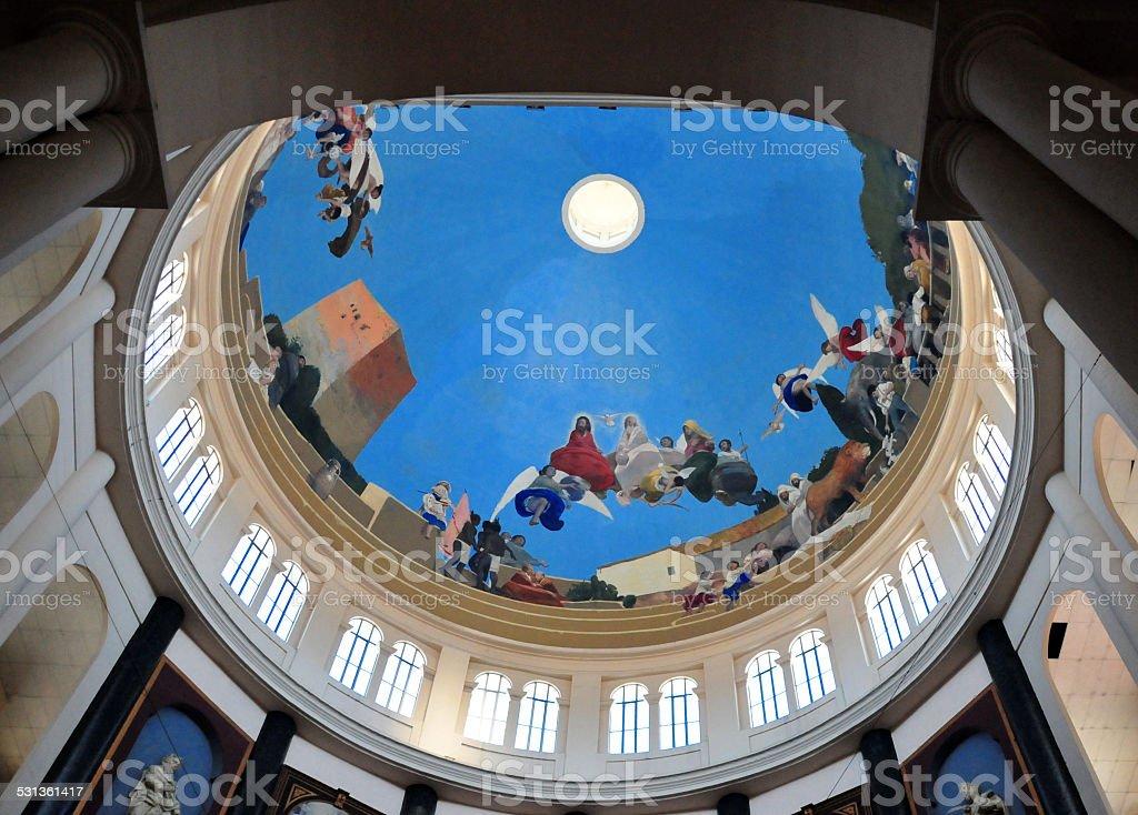 San-Salvador, El-Salvador: Cathedral dome stock photo